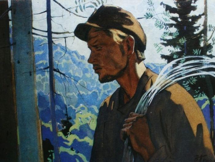 Выставка одной картины В. Е. Попкова «Связист. Сквозь тайгу»