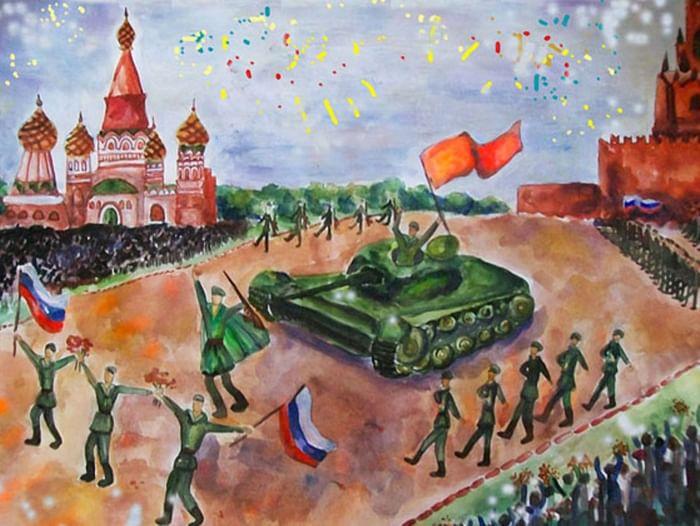 Выставка рисунков «Победа глазами детей»