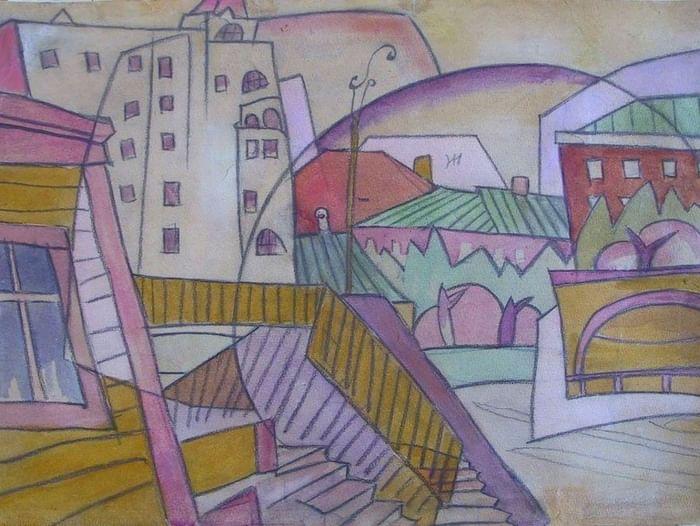 Выставка одной картины А. В. Лентулова «Футуристическая композиция города»