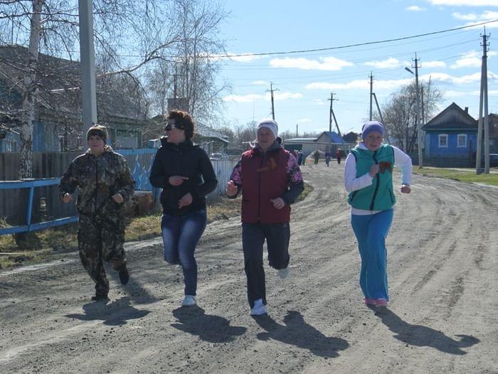 Легкоатлетический кросс в селе Тюли