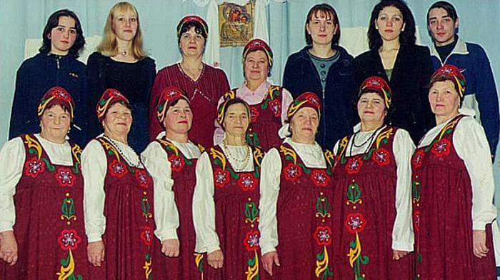 Женская семизарядная кадриль «Кузовок» из с. Ножкино Чухломского района Костромской области